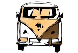 volkswagen bus clipart vw retro bus free stock photo public domain pictures
