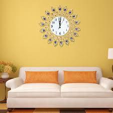 diamond large wall clocks metal digital needle wall clock
