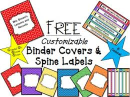 free editable binder covers by brooke brown teach outside the box