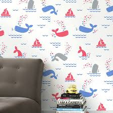 whalentine wallpaper by wall library notonthehighstreet com