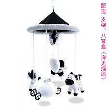 ceiling light toys for babies black and white baby bed bell baby music bed hanging rotation baby