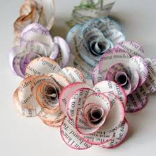 Making Of Flowers With Paper - best 25 book flowers ideas on pinterest newspaper crafts paper