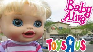 baby us baby alive toys r us haul outing with for the time