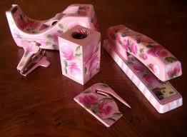 Pink Desk Accessories Set Pink Desk Accessories Set Desk Design Ideas