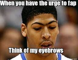 Eyebrows Meme Internet - meme maker unibrow davis generator