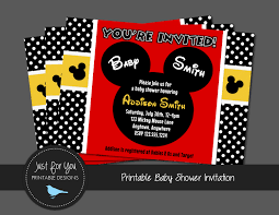 mickey mouse baby shower invitations il fullxfull 1135079976 4al6 on mickey mouse baby shower