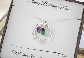 birthstone necklaces for mothers mothers birthstone necklace gift for jewelry 3 birthstone