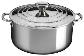 Be Our Guest Le Creuset by Le Creuset 5 5qt Shallow Casserole Stainless Steel Everything