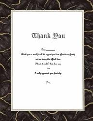 funeral thank you notes funeral thank you notes templates clip wording geographics