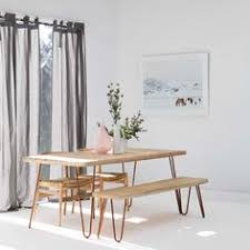 pine bench for kitchen table hairpin leg table and bench with modern chairs my dream set up