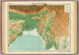 North India Map by India North Eastern Section David Rumsey Historical Map