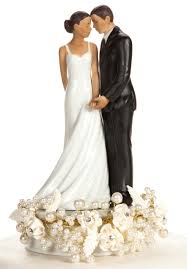 black wedding cake toppers and pearls american cake topper silver or
