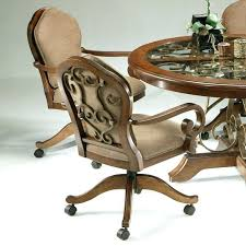 swivel dining chairs with casters beautiful dining chairs with