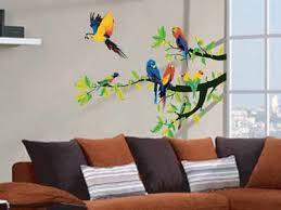 Wall Stickers For Bedrooms Interior Design Bird Image For Wall Decoration Modern Wallpaper Stickers And