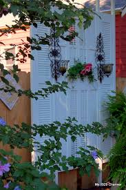 Outdoor Privacy Blinds For Decks How To Make A Deck Privacy Screen Out Of 6 Shutters Purchased From