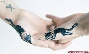 running wolf tattoos s on hands tattoo viewer com