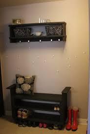 Walnut Split Seat Storage Bench Hall Shoe Storage Bench With Seat Bench Decoration