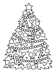 coloring page of christmas tree with presents coloring page christmas tree coloring page tree with presents
