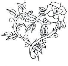 printable rose stencils roses heart tattoo stencil click full size