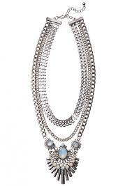art deco style statement necklace happiness boutique