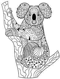 Coloriage mandala koala  Laborde yves