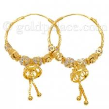 gold hoops earrings gold hoop earrings for women 22 k goldpalace