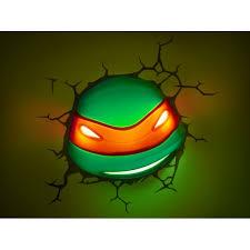 Ninja Turtle Wall Decor Mutant Ninja Turtles 3d Wall Art Nightlight Raphael In 3d Wall Art