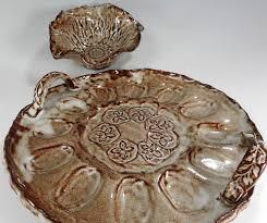 ceramic egg dish pottery deviled egg plate ceramic egg dish with handles