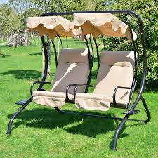 Garden Loveseat Outdoor Patio Swing Canopy 2 Person Seat Hammock Bench Yard