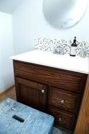 Update Bathroom Vanity Bathroom Sink Tile Backsplash Tile Behind Bathroom Vanity