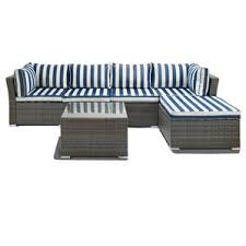 Outdoor Patio Sectional Sofas  Loveseats Wayfair - Outdoor sectional sofas
