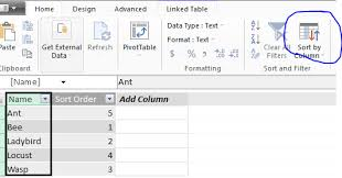 Sort A Pivot Table Sorting Why Is My Excel Power Pivot Not Maintaining The Order Of