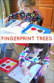 fall crafts for kids fingerprint trees fingerprint tree