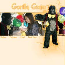 singing birthday grams gorilla gram singing telegrams
