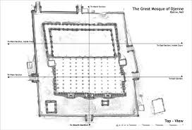 floor plan of mosque djenné zamani project