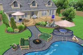 gorgeous latest backyard hardscape ideas pool