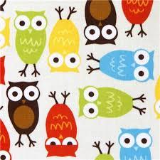 kawaii owls fabric by robert kaufman fabric by kawaii