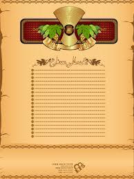 antique beer menu vector background 01 u2013 over millions vectors