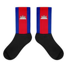 Cambodia Flag Cambodia Flag Socks U2013 Choose To Rep