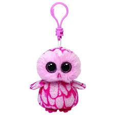 ty beanie boo boos key clip plush boo soft teddy keyring