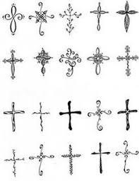 Small Tribal Cross - feminine cross tattoos images tatoo