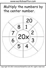multiplication target circles free printable worksheets