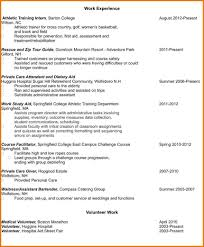 athletic trainer resume sample experience resume template with volunteer experience printable of resume template with volunteer experience large size