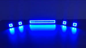 multi color led light bar rgb color changing halos off road light bar and led pods youtube