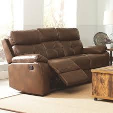 100 leather reclining sofa red barrel studio crete leather