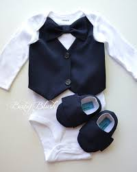 navy vest bow tie baby boy photo prop matching shoes
