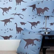 blue dinosaur wallpaper for children dya think e saurus