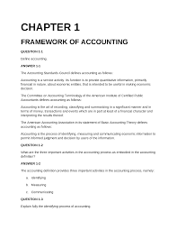 chapter 1 framework accounting documents