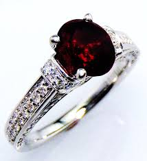 ruby and engagement rings untreated ruby engagement ring certified 14 kt white