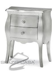 comodini foglia argento comodino in legno bombato 2 cassetti